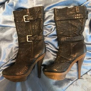 Elizabeth and James 5in heeled boots
